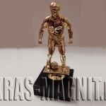 статуэтка футболист золотая,награда футболисту,награда голкиперу,