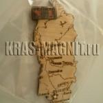 красноярский край карта магнит на холодильник,