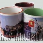 кружки керамические цветные с видами г.Красноярск
