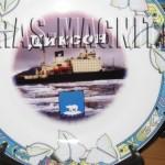 фото на керамической тарелке,