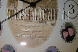 подарочная гравировка на стекле настенных часов
