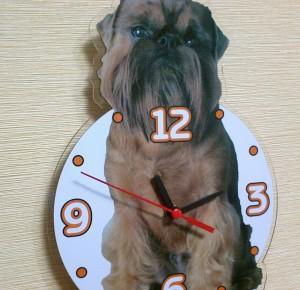 часы настенные фигурные,часы в виде собаки,