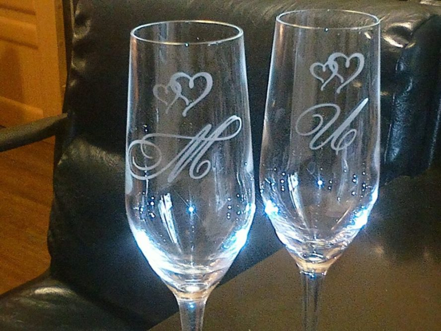 надпись на бокалах,бокалы на свадьбу,