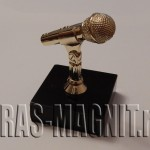 награда золотой микрофон,статуэтка микрофон,
